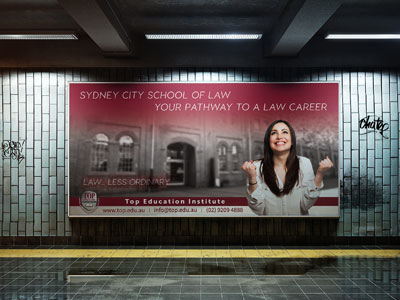 Top Education Institute Billboard