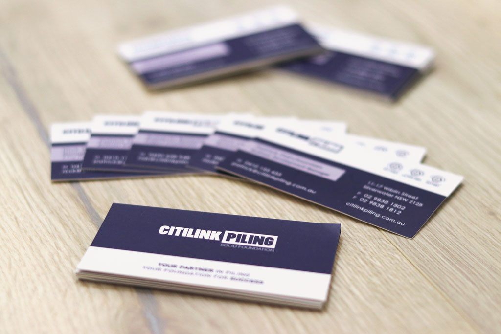 Citilink Piling Business Cards