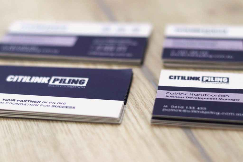 Citilink Piling Calendars & Business Cards