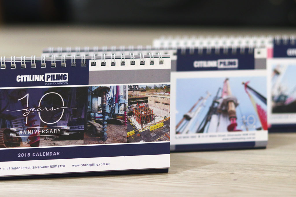 Citilink Piling Calendars